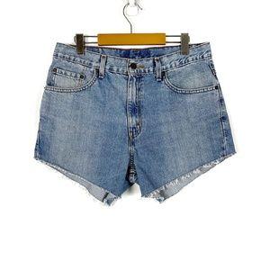 Levi's High Waisted Cut off Denim Shorts